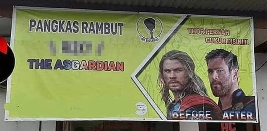 S3 Marketing Harvard, Iklan Lucu PKL Catut Nama Pesohor