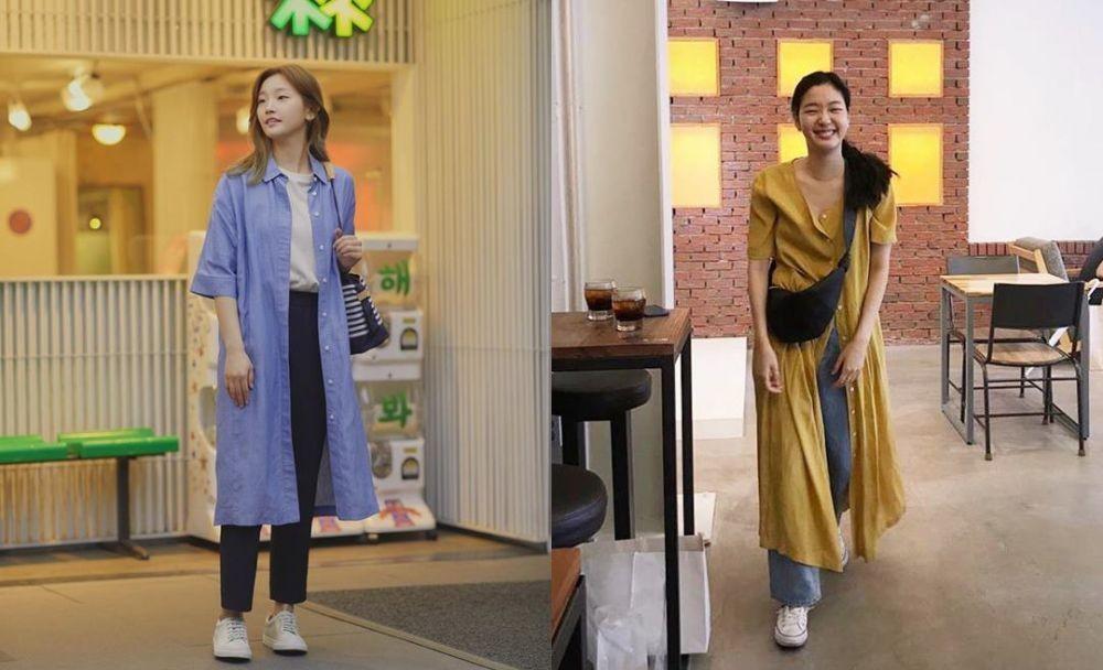 10 Adu Gaya OOTD Kim Go-eun Vs Park So-dam bak Pinang Dibelah Dua!