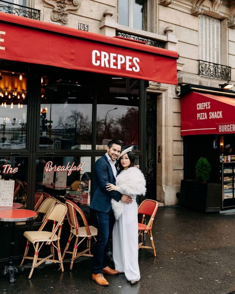 Jatuh ke Pelukan Bule, 10 Potret Prewedding Chef Marinka di Paris