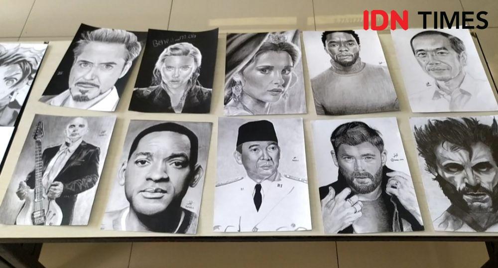 Cerita Benedict Pelukis Wajah Jokowi dan Najwa Shihab Berusia 14 Tahun