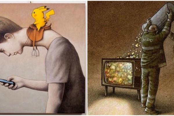 10 Ilustrasi Realita Miris Kehidupan Modern, Ada yang Menohok Banget