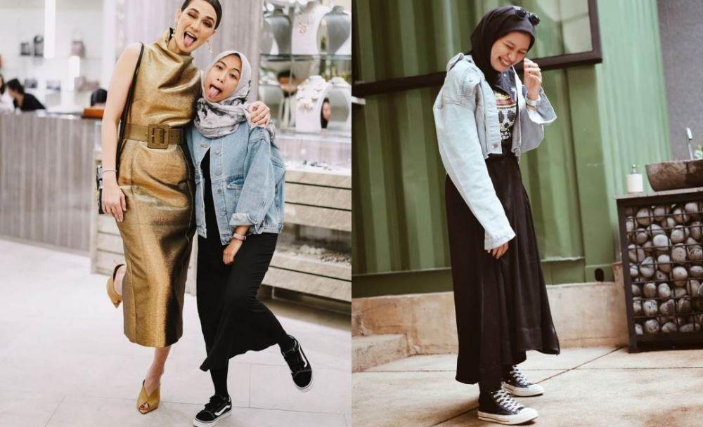 9 Adu OOTD Hijab Asisten Luna Maya Vs Asisten Zaskia Mecca
