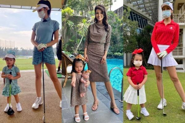 10 Gaya OOTD Kompakan Ibu Anak ala Chef Farah Quinn dan Baby Yaya