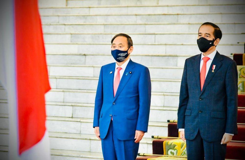 Ini 4 Kesepakatan Jokowi dan PM Jepang Yoshihide Suga di Istana Bogor
