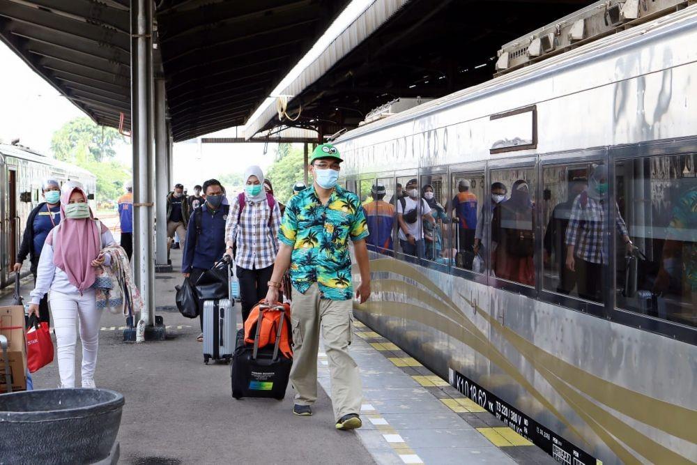 Penumpang 19 Stasiun KA di Jateng Naik 48 PersenJelang Larangan Mudik