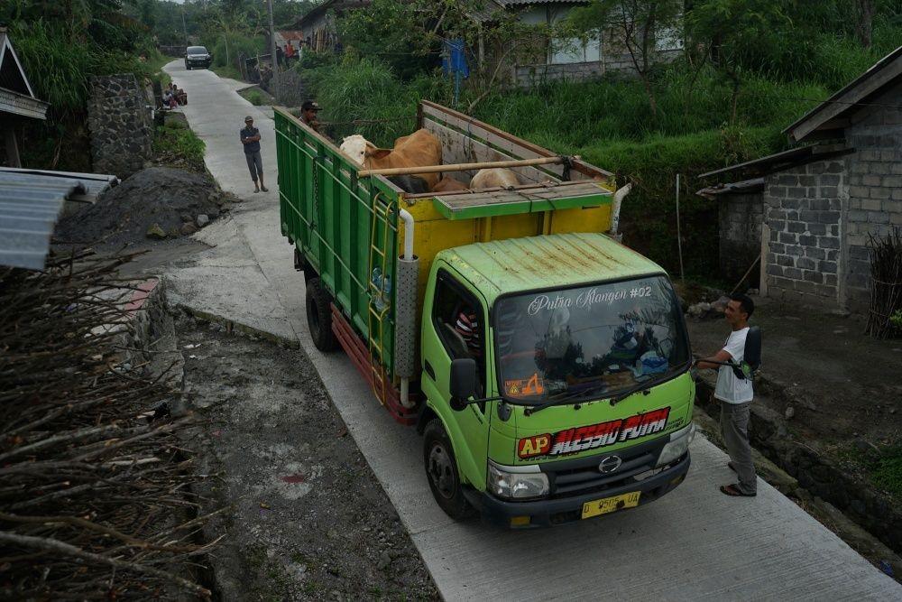 Sebagian Warga Klaten Belum Mengungsi dari Kaki Gunung Merapi