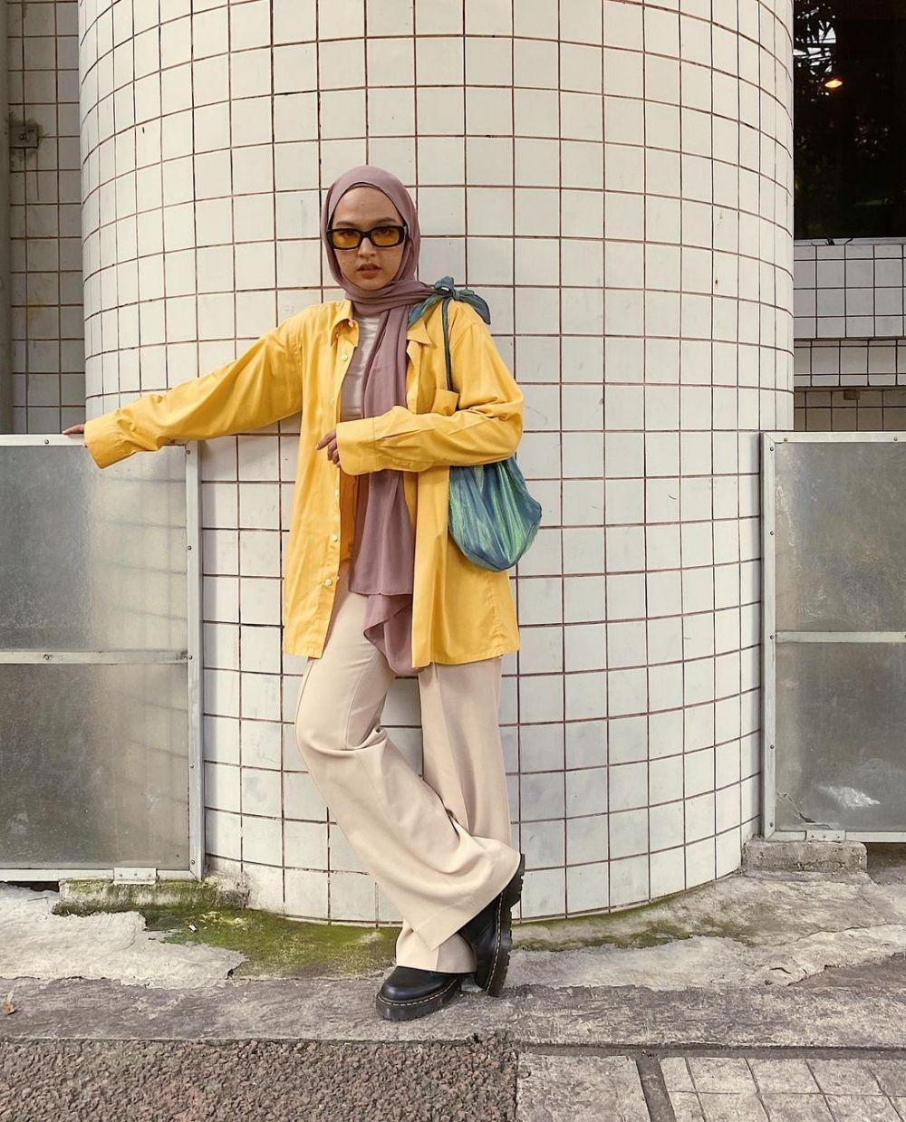 Ada Ayana Moon, 9 Inspirasi Mix and Match Hijab ala Korea