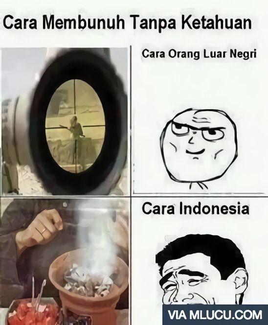 Kocak Banget,10 Meme Kelakuan Orang Indonesia Vs Luar Negeri