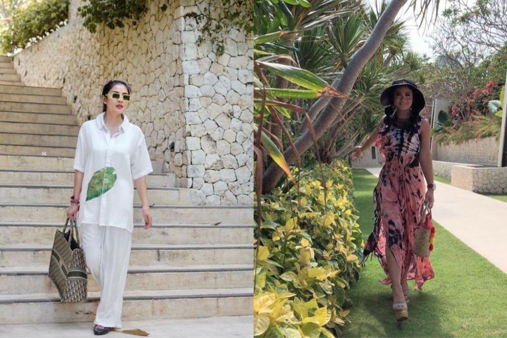 9 Adu Gaya Glamor Nindy Ayunda dan Krisdayanti, Style-nya Mewah!