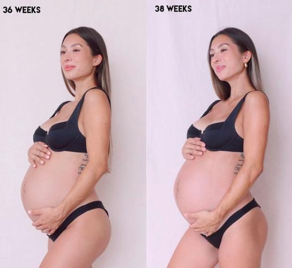 Melahirkan Anak Ketiga, 10 Momen Perjuangan Kehamilan Jennifer Bachdim