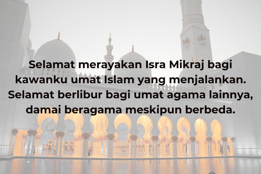 10 Inspirasi Ucapan Isra Mikraj, Semoga Kita Ada dalam Lindungan-Nya