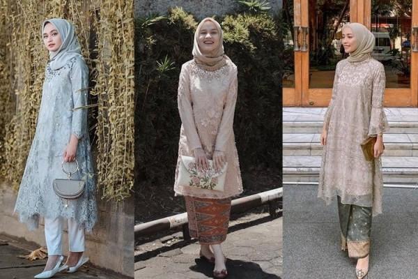9 Style Kondangan Hijab dengan Tunik, Bertabur Tulle hingga Payet