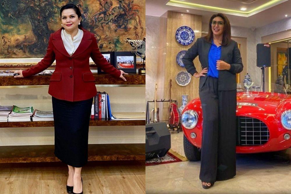 9 Adu Gaya Yanti Airlangga Vs Dewi Bamsoet, Istri Penjabat Stylish!