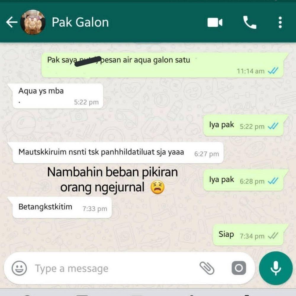 Cocok Nih Jadi Pelawak, 10 Chat Kocak Pelanggan dengan Tukang Galon