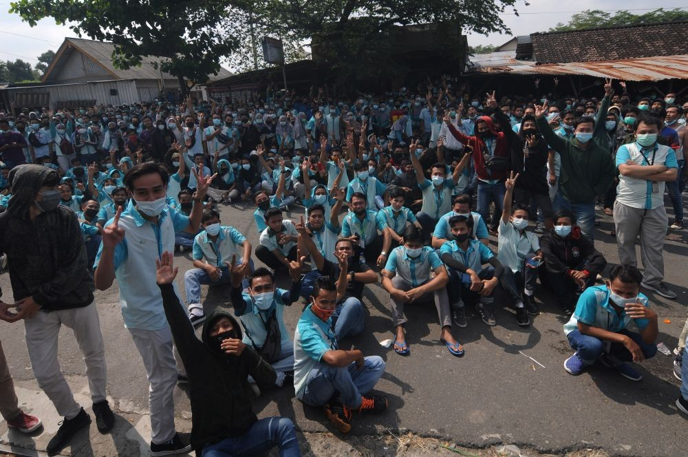 Ribuan Buruh di Boyolali Demo Tak Terima Gaji dan THR Dicicil