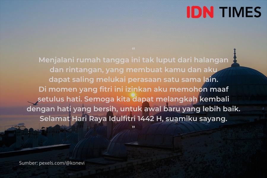 11 Ucapan Idul Fitri untuk Suami, Romantis dan Bikin Tersenyum