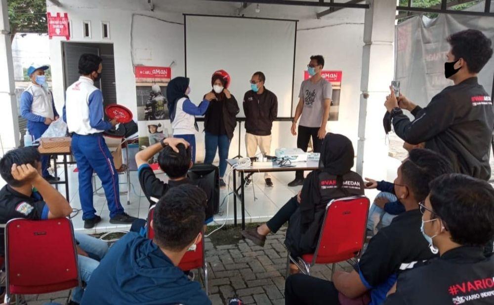 Komunitas Vario Silaturahmi sambil Upgrade Pengetahuan Safety Riding