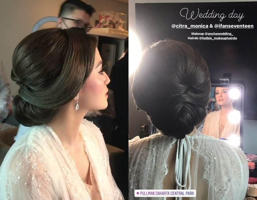 9 Gaya Makeup & Dress Akad Nikah Citra Monica, bak Kate Middleton
