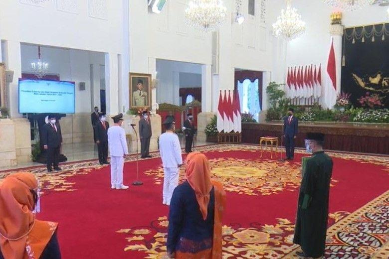 Rusdi Mastura Resmi Gubernur Sulteng, Dilantik Jokowi di Istana Negara