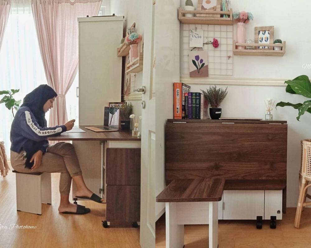 6 Ide Meja Kerja yang Cocok untuk Kamar Mungil ala Anak Kos, Fleksibel