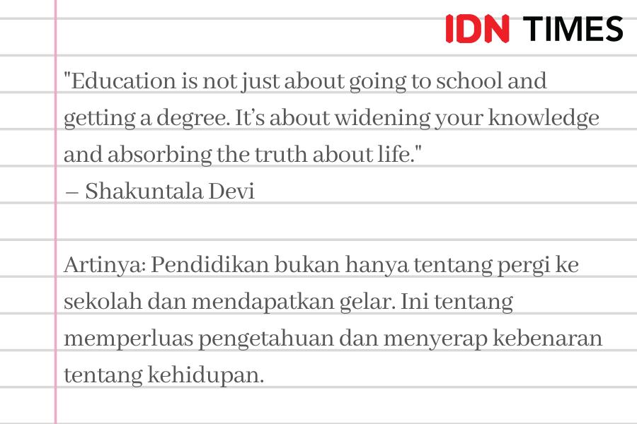 9 Quotes Bahasa Inggris tentang Pendidikan, Penuh Motivasi Belajar!