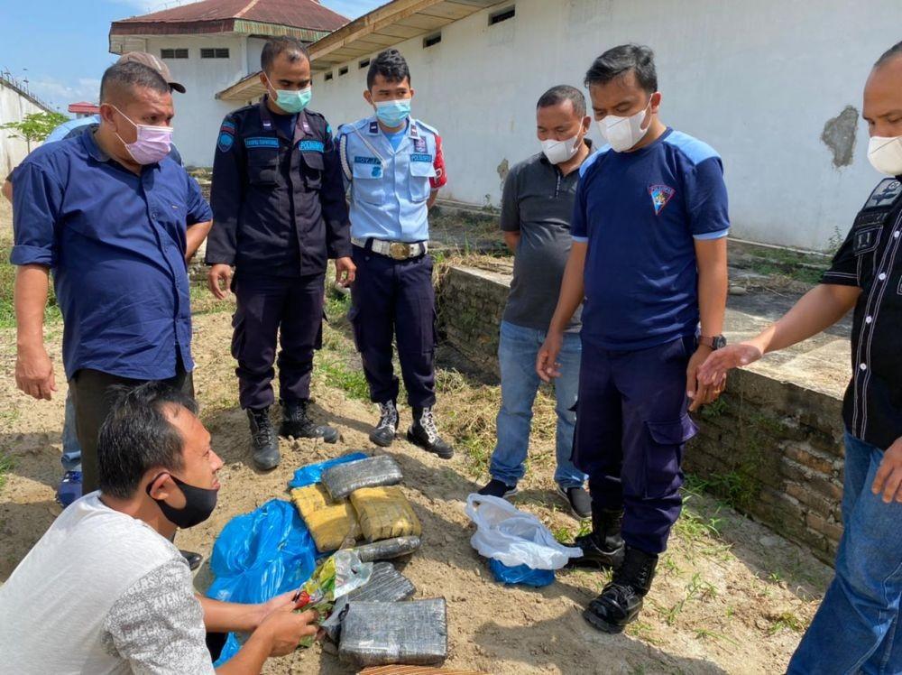 Penyelundupan Ganja dan Sabu ke Lapas Siantar Digagalkan Petugas