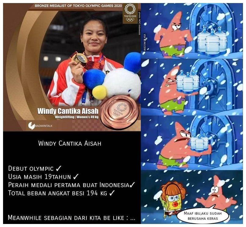 10 Meme Kocak Olimpiade yang Bikin Ketawa, Semangat Dukung Indonesia