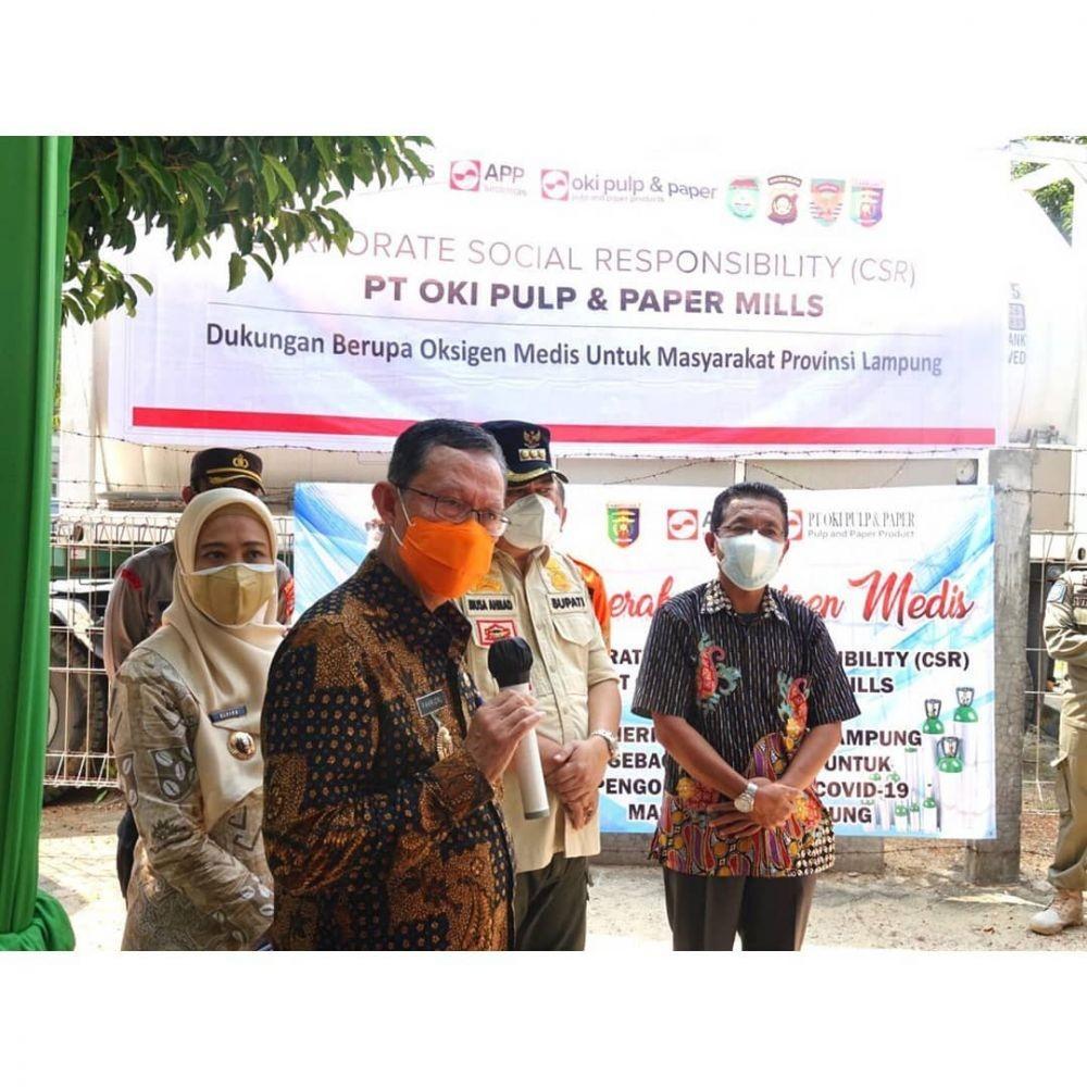 Kabar Baik! Lampung Terima 15 Ton Bantuan Oksigen Cair dari Swasta