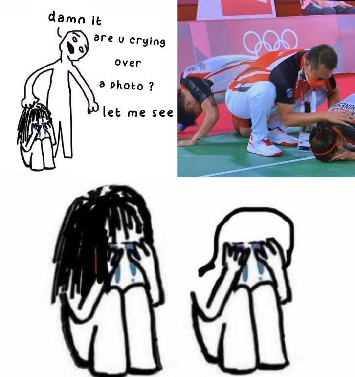 10 Meme Greysia Polii/Apriyani Raih Emas Olimpiade 2020 yang Kocak Pol