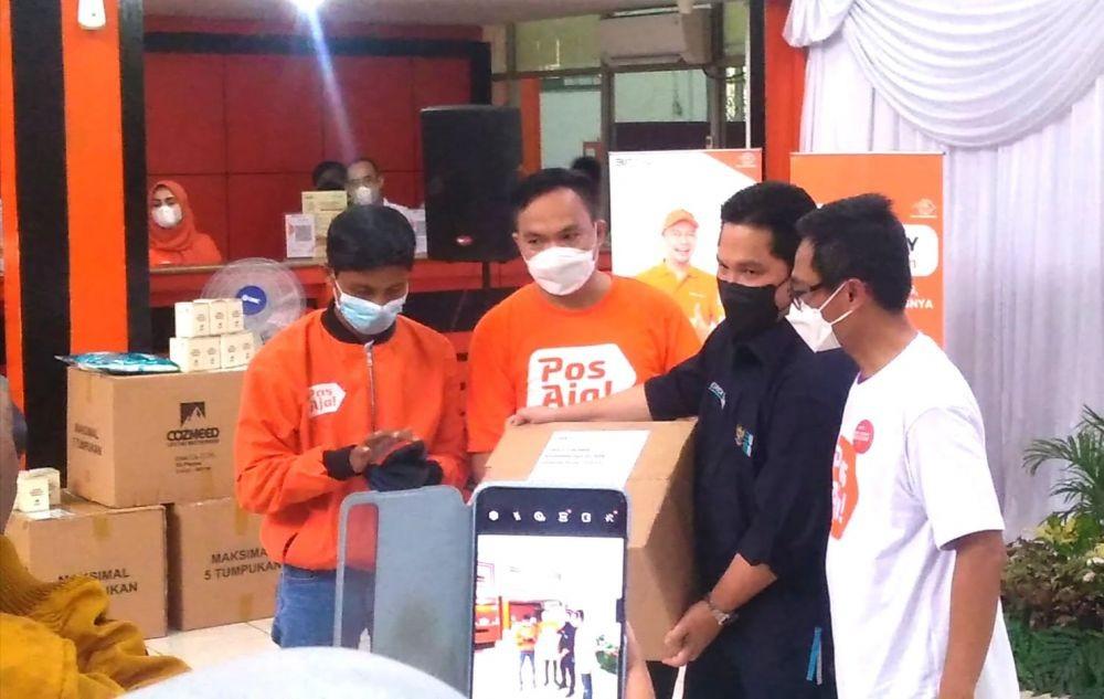 Buktikan Aplikasi Pos Aja, Erick Thohir ApresiasiPT Pos Indonesia