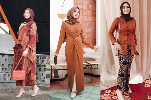 10 Style Kondangan Warna Terracotta, Bikin Pemandangan Jadi Teduh!